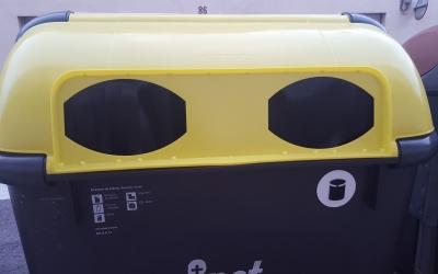 Un dels contenidors grocs ampliats
