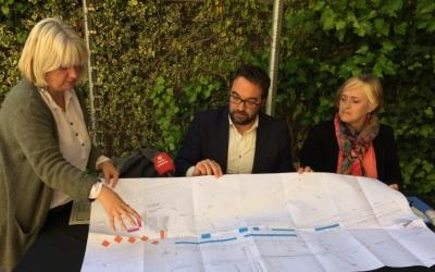 D'esquerra a dreta: Montse Chacón, Juli Fernàndez i Marisol Martínez