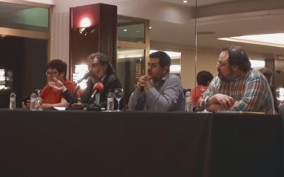 Cuixart i Sánchez, acompanyats dels presidents d'ôminium a la ciutat i Sabadell per la Independència