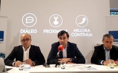 Els responsables de CASSA, en roda de premsa/ Karen Madrid