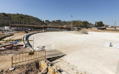 Imatge de la Bassa quan encara estava en obres/ Ajuntament de Sabadell