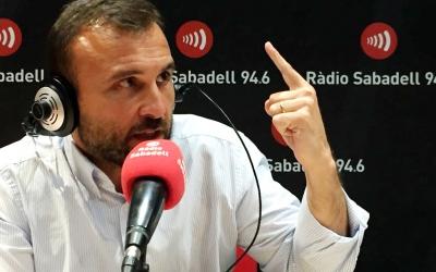 Hernández aquesta tarda als estudis de Ràdio Sabadell | Roger Benet (CES)