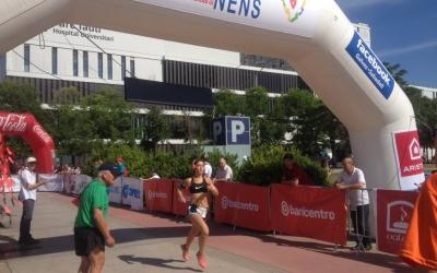 Línia de meta de la cursa. Foto: Ràdio Sabadell