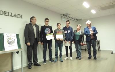 Els guanyadors durant l'entrega de Premis | Fundació Bosch i Cardellach