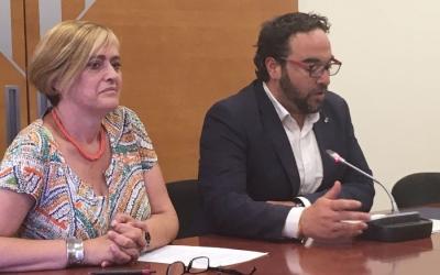 Marisol Martínez i Juli Fernández presentant la Festa de l'esport d'aquest any