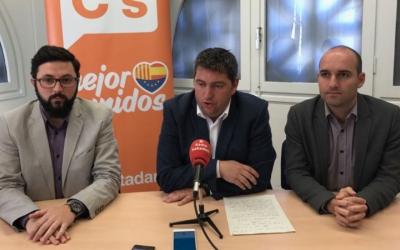 El regidors de Ciutadans Sabadell en roda de premsa. Foto: Grup Municipal de Ciutadans Sabadell