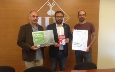 El regidor Xavi Guerrero, l'alcalde Juli Fernàndez i  el regidor Matias Serracant. Foto: Ràdio Sabadell