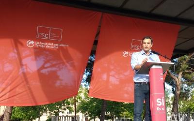 Pedro Sánchez, a la plaça Picasso de Campoamor