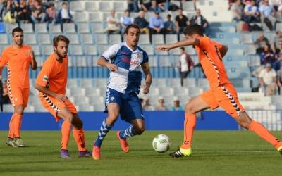 Jordi López en un partit d'aquesta temporada