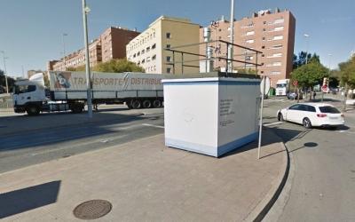 Mesurador de la qualitat de l'aire a la carretera de Prats/ Arxiu