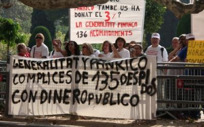 Els treballadors de Panrico en un acte de protesta | ACN