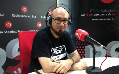 Nando Caballero durant l'entrevista a Ràdio Sabadell   Marc Pijuan