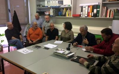 Els membres de la Coordindora del Moviment Veïnal del Vallès aquest matí