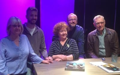 D'esquerra a dreta: Montse Chacon, Carles Goñi, Minnie Marx, Pavel Bsonek i Sergi Mateu