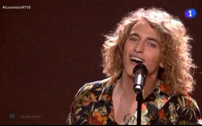 Actuació de Manel Navarro a Eurovisió. Foto: RTVE.es