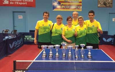 Representants del Tennis Taula Sabadell a Calella