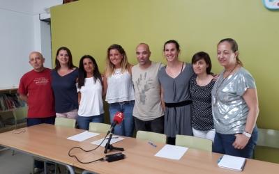 Berlanga i els representants de les diferents escoles participants en el programa/ Karen Madrid