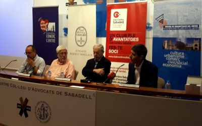 El d'avui ha estat el primer acte conjunt de les quatre entitats sabadellenques/ Karen Madrid