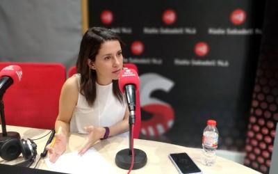 Inés Arrimadas durant l'entrevista a Ràdio Sabadell