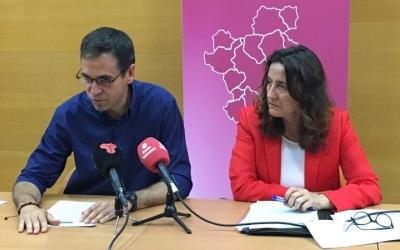 El president del Consell, Ignasi Giménez, i la presidenta de la Diputació, Mercè Conesa | Mireia Sans