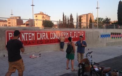 Mural a l'estació de Can Feu Gràcia (FGC). Foto: Ràdio Sabadell