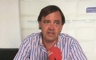 El portaveu del PP, Esteban Gesa, en roda de premsa | Mireia Sans