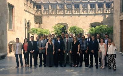 Recepció del president de la Generalitat al Natació Sabadell