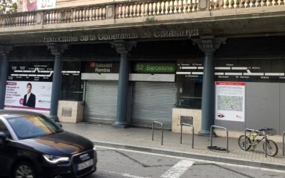 Imatge de l'accés a l'antiga Sabadell Rambla