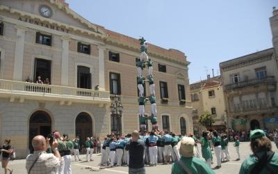 4 de 8 dels Castellers de Sabadell. Foto: Ràdio Sabadell