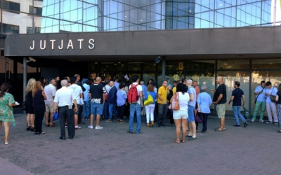 Imatge dels jutjats de Sabadell aquest matí