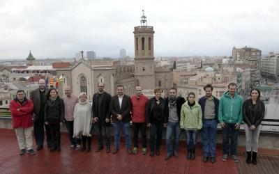 Imatge del quadripartit, en el moment de la seva constitució/ Ajuntament de Sabadell
