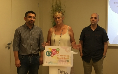 Gabriel Fernández, Marisol Martínez i joan Berlanga en roda de premsa | Mireia Sans