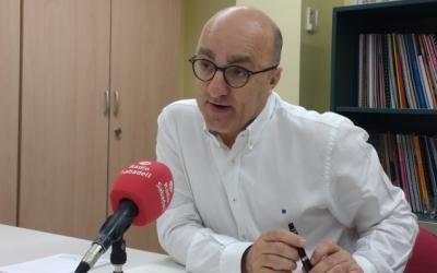 Josep Escartín en una entrevista a Ràdio Sabadell