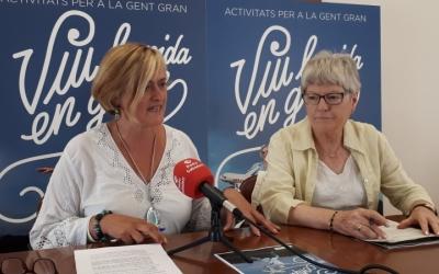 Marisol Martínez i Teresa Sarerols, presidenta de la Coordinadora de Gent Gran/ Marc Pérez
