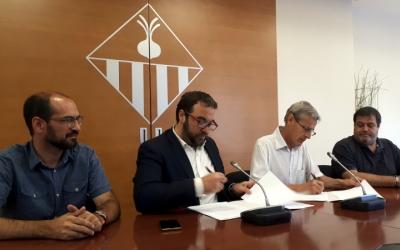 L'Ajuntament i l'ISGlobal han signat avui un conveni de col·laboració/ Karen Madrid
