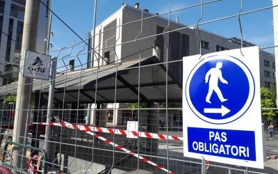 Estat de les obres a l'exterior de l'estació de Sabadell Centre/ Karen Madrid