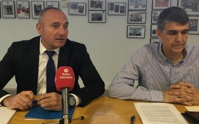 Llorens (esquerre) i Martí (dreta) a la presentació d'aquest matí | Ràdio Sabadell