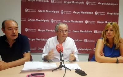 D'esquerra a dreta: Josep Beltran, Carles Rossinyol i Sílvia Renom
