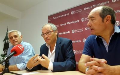 D'esquerra a dreta: Toni Font, Carles Rossinyol i Josep Beltran