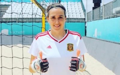 Mariajo Pons a Portugal amb la samarreta de la selecció | Instagram