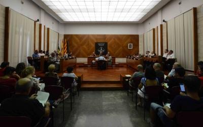 Maties Serracant ha presidit avui la seva primera sessió plenària com a alcalde | Roger Benet