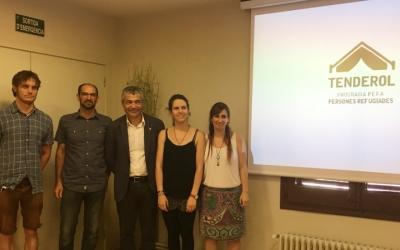 Representants de l'Ajuntament, la Generalitat i la CCAR aquest matí en roda de premsa | Mireia Sans