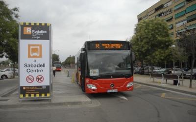 Bus llançadora a Sabadell Sud. Foto: Aleix Graell