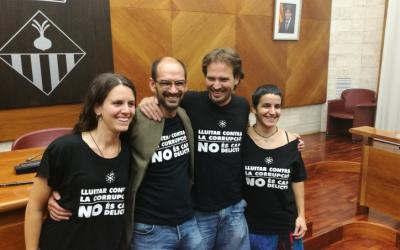 Els quatre regidors de la Crida al ple d'investidura de Maties Serracant | Juanma Peláez