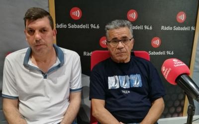 Diego Granero, president de l'Associació de Veïns de Campoamor i Manuel Llamas, vicepresident de l'Associació de veïns Espronceda