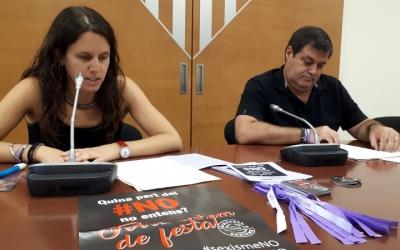 La regidora Ferrándiz i el regidor de Salut Ramon Vidal han presentat avui la campanya/ Karen Madrid