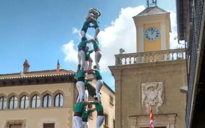 Un 3d9 descarregat pels Castellers de Sabadell a Vic/ Saballuts