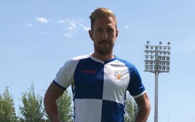 Ángel Martínez amb la samarreta del Sabadell