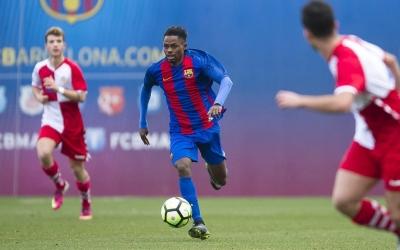 Braima Fati, en una acció contra el Sabadell la temporada passada | @FCBarcelonaB