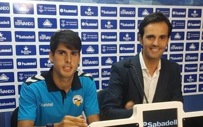 Bruno Batlle ahir a la presentació de Mario Rodríguez